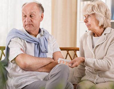 Senior-Refusing-Medicine
